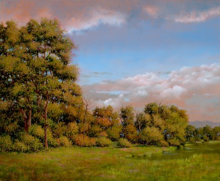 """Bangall Pond"" 2008, Oil on canvas, 20 x 24 inches, Signed and dated lower left: Carolyn H Edlund 2008"