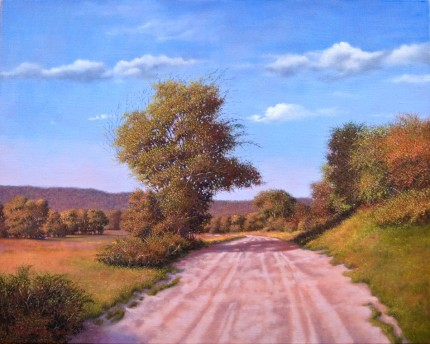 """Berkshires Retrospection"" 2009, Oil on linen, 24 x 30 inches, Signed and dated lower left: Carolyn H Edlund 2009"