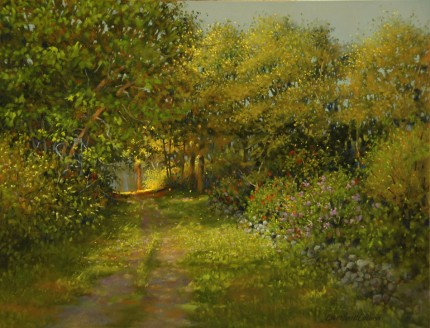 """Country Lane"" 2012, Oil on panel, 11 x 14 inches, Signed lower right: Carolyn H Edlund"