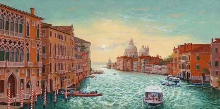 """Grand Canal"" Oil on fine Belgian linen, 24 x 48 inches"