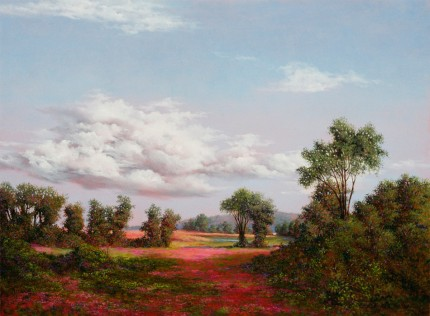"""Heaven & Earth"" 2006, Oil on canvas, 18 x 24 inches, Signed and dated lower right: C Hutchings Edlund 2006"