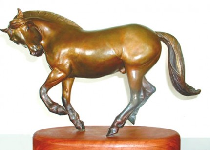 """Fjord at Play"" Bronze, 10 x 15 inches, Signed"