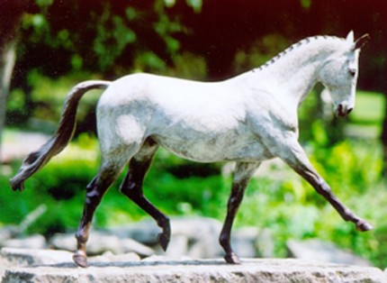 """Extended Trot"" Bronze, 15 x 20 inches, Signed"