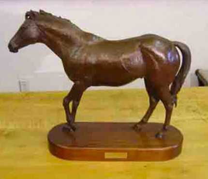 """Raise A Native"" Bronze, Edition: 29/75, 15 x 20 inches, 28 lbs, Signed & Numbered"