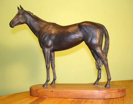 """Ruffian"" Bronze, 8.5 x 10 inches, Signed"