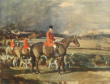 """Ernest Heatley Esq. On His Horse 'Conrad' Master Of The Essex Union Hunt"" Artist's proof, Published by Frost & Reed, 1936, 15.5 x 20 inches, Blind stamped, Signed in pencil"