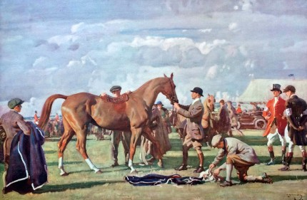 """The Red Prince Mare"" Original titled print, Published by Frost & Reed, 1922"