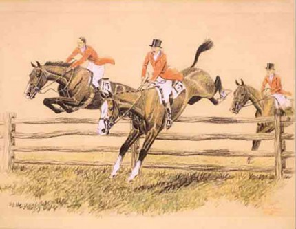 """The Last Fence at Meadowbrook"" Pastel and ink,