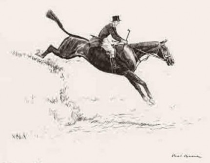 """Over The Plough"" Dry point etching, 8 ½ x 10 ⅛ inches,