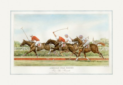 """On The Boards"" American Polo Scenes, Derrydale Press 1930, Printed on imported handmade paper, Plate: 12 ½ x 20 inches, Paper: 17 x 24 inches, Signed lower left, Titles engraved in the same style as other sets of American Sporting scenes published by The Derrydale Press, 1930. Only 175 signed proofs were produced of each print, which makes a bona fide set of four rare and valuable."