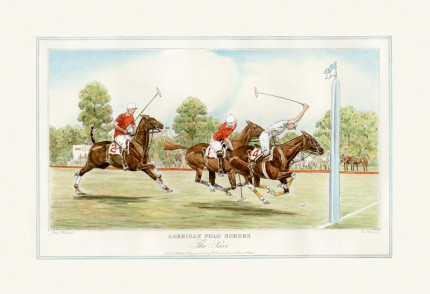 """The Save"" American Polo Scenes, Derrydale Press 1930, Printed on imported handmade paper, Plate: 12 ½ x 20 inches, Paper: 17 x 24 inches, Signed lower left, Titles engraved in the same style as other sets of American Sporting scenes published by The Derrydale Press, 1930. Only 175 signed proofs were produced of each print, which makes a bona fide set of four rare and valuable."