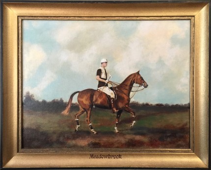 """""""William Goadby Loew of the Magpies Polo Team"""" 1924, Gouache on board, 11 x 15 inches"""