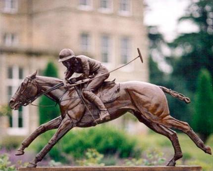 """Nearside Forehand"" Bronze, 130 x 84 x 29 cm, Base: 116 x 24 cm"
