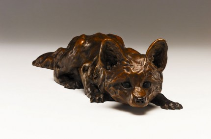 """""""Stalk"""" Bronze, Edition of 25, 20 x 3 x 4 inches, Signed"""