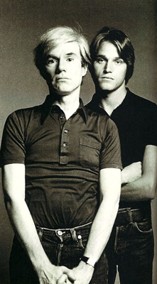 Andy Warhol and Jed Johnson 1982, Sean Byrne Collection
