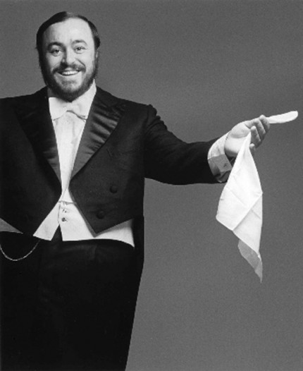 """Luciano Pavarotti, 1977"" Song Portfolio, 20 x 24 inches, Individual Price: $1,500, Portfolio of ten portraits: $4,950"