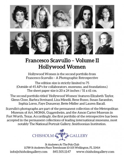 'Hollywood Women' Suite of ten images: $4,950