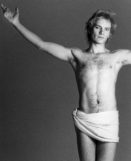 """Sting, 1984"" Song Portfolio, 20 x 24 inches, Individual Price: $1,575, Portfolio of ten portraits: $4,950"