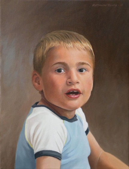 """Grayson"" 2010, Oil on canvas, 18 x 14 inches, Signed upper right"