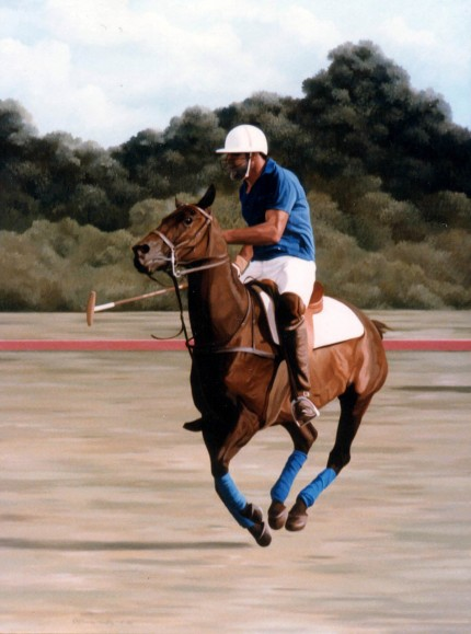 """Polo X"" Oil on canvas, Signed"