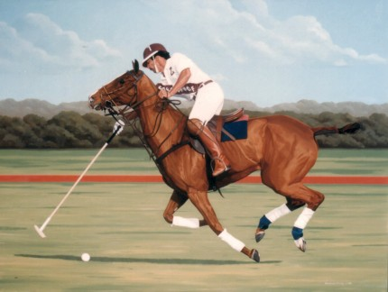 """Polo III"" Oil on canvas, Signed"