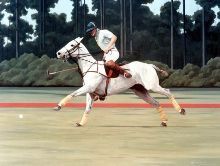 """Polo VI"" Oil on canvas, Signed"