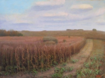 """""""Bull Pasture West, Hollywood Ranch"""" 2011, Oil on linen, 30 x 40 inches, Signed"""