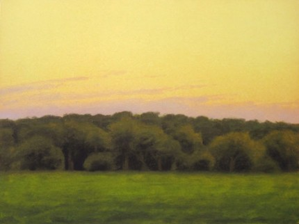 """""""View from the Porch"""" 2004, Fine Art Limited Edition Artist's Proof, 19 x 25 inches, Hand Gilded 22 kt Gold Border"""