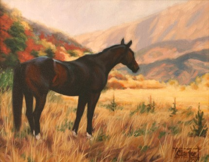 """Salt Creek Canyon in the Fall"" Oil on canvas, 9 x 12 inches, Signed"