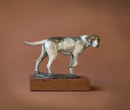 """""""Standing Hound"""" Bronze"""