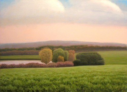 """Weathersfield"" 2007, Acrylic & Oil on canvas, 16 x 22 inches, Signed"