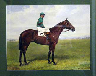 My Love (W.R. Johnstone Up) Winner of the 1948 Derby, oil on paper, signed