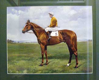 Galcador (W.R. Johnstone Up) Winner of the 1950 Derby, oil on paper, signed