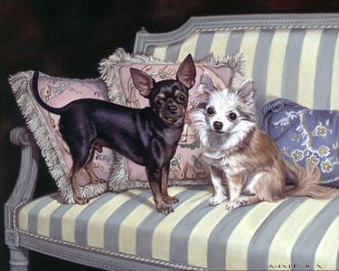 """""""Harpo & Gomez"""" oil on canvas, 16 x 20 inches"""