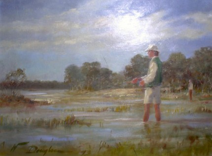 """Low Country"" Oil on canvas, 12 x 16 inches, 15 x 19.5 inches, Signed lower left"