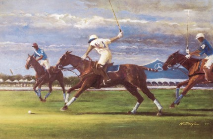 """Bridgehampton Polo"" Oil on canvas, 24 x 36 inches, Signed 