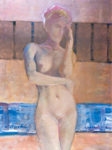 """Nude II"" Watercolour on paper, 15 x 11 inches, Signed"