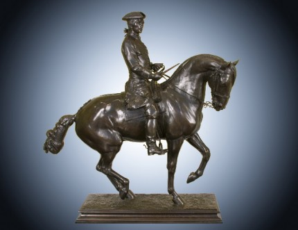 """Cavalier Louis XIV"" Bronze, 40 x 38 x 13 inches, Signed on base: ""J. d'ESTRAY Bronze Made in France"" stamp on base, Literature: Michael Forrest, Art Bronzes (1988), p. 166 (illus. of another cast)"