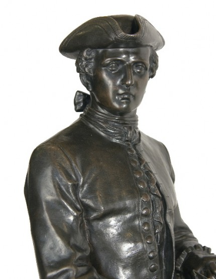"""Cavalier Louis XIV"" (detail) Bronze, 40 x 38 x 13 inches, Signed on base: ""J. d'ESTRAY Bronze Made in France"" stamp on base, Literature: Michael Forrest, Art Bronzes (1988), p. 166 (illus. of another cast)"