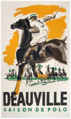 """DEAUVILLE POLO"" by Jacquet c.1937, 24 x 39 inches (60 x 99 cm) 