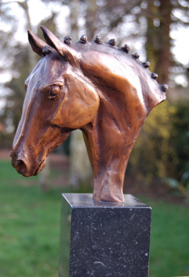 "Marie Ackers (French Contemporary) ""Dressage Head Study"" Solid Bronze, Edition of 10 (+1 Artist Copy)"