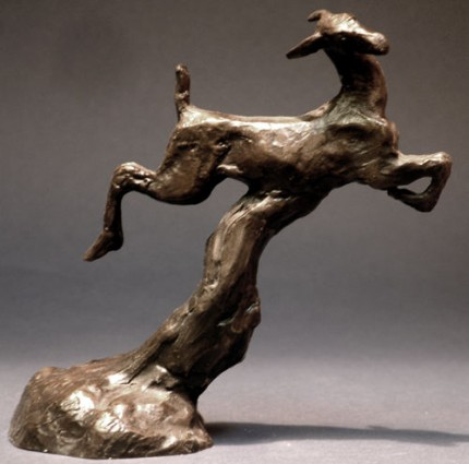 """Running Deer"" Bronze, Edition of 40, 5 ½ x 5 ½ x 2 ⅜ inches"