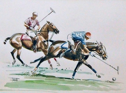 """""""The Flick"""" Watercolour, 21 x 17 inches, Signed"""