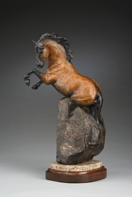 """The Dun Horse"" Bronze, Edition 1/17, 22 x 14 x 10 inches, Signed & Numbered 