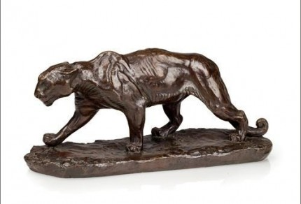 """Walking Puma"" Bronze, Edition of 25, 6 ½ x 14 ½ x 4 ½ inches"
