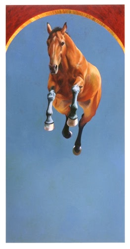 """Patricia Powers (American Contemporary """"Noticing My Bones"""" 2002, Oil on canvas, 8 x 4 feet"""