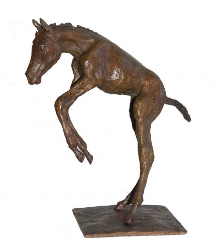 """Foal I"" Edition: 2/8, Bronze, 8.5 x 10.5 inches, Signed"