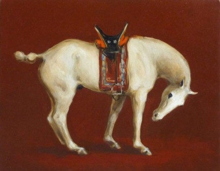 """Mongolian Horse II"" Oil on linen, 11 x 14 inches, Signed"