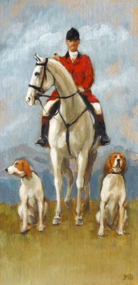 "Mary Bridgman ""Huntsman with Two Hounds"""