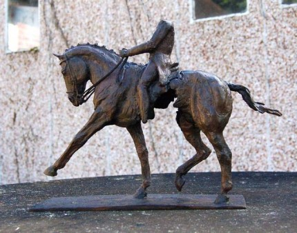 """Extended Trot I"" Edition: 1/8, Bronze, 9.85 x 11.85 inches, Signed"